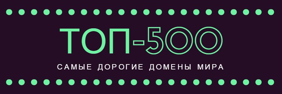 ТОП-500 - Самые дорогие домены мира. Посмотрите на лидеров!